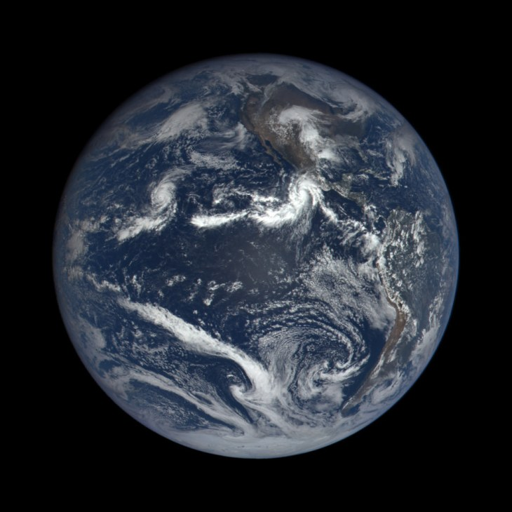 This image was captured nearly 1 million miles from Earth at 4:00 p.m. EDT (19:00:18 GMT), on Oct. 22, 2015.