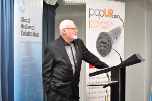 Clem Campbell OAM President, United Nations Association Qld spoke at the launch of Reimagining Resilience program.