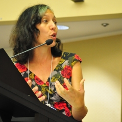 GRC's Moderator Leonie Sanderson in action