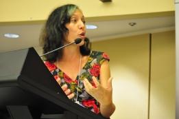 GRC's Moderator Leonie Sanderson in action